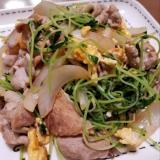 豚こまと豆苗の中華風炒め