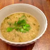 ヴィーガン☆レンズ豆とパクチーのスープ