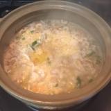 ミルフィーユ鍋の残りをリメイク雑炊