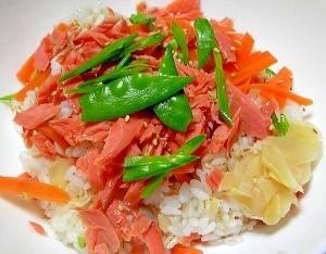 ひな祭りに行楽のお弁当に♪簡単鮭ちらし寿司