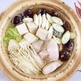 生秋鮭と塩とうふの鍋物