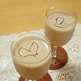 アーモンド風味のバナナチョコドリンク☆