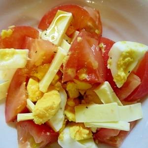 チーズ入りトマト卵サラダ