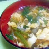 ほうれん草と玉ねぎとたまごのスープ★