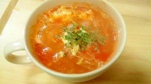 ダイエット★トマト玉ねぎの卵スープ 175Kcal