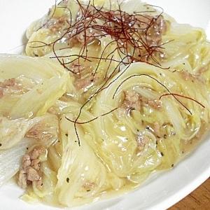 白菜の生姜たっぷり蒸し煮