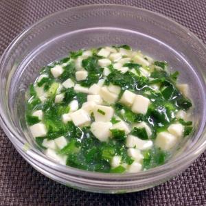 離乳食中期☆豆腐とほうれん草のあんかけ