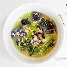ターサイと、きくらげのスープ