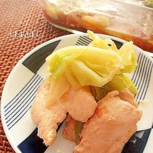 作り置きおかず♪鷄むね肉とキャベツのレモン酢マリネ