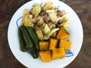 白菜牛肉ピーマン南瓜のすき煮