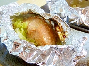 味噌漬け鮭のホイル焼き