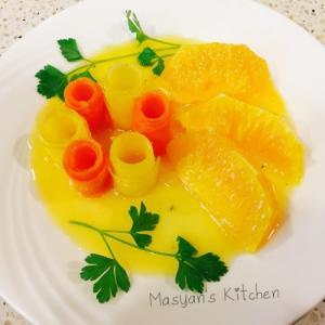 オレンジ風味 キャロットロールサラダ