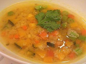 有機人参と赤レンズ豆スープ