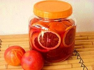 赤い果実酒♪国産ブラッドオレンジ酒