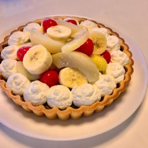 フルーツたっぷり♡チョコレートタルト