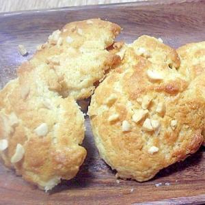 アーモンドダイスを散らしたサクサククッキー