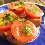 ソルトトマトのオープンサンド