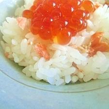 焼き鮭の親子ご飯