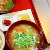 白菜と豚肉の味噌汁