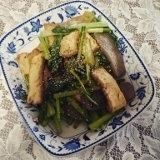 ダイエットに、厚揚げとコンニャクと小松菜の炒め物