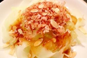 【ピーラーで簡単】加賀太きゅうりのさっぱりサラダ