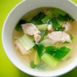 大根と小松菜ササミのスープ