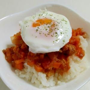 ミートソースで☆半熟卵のミートソース丼