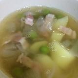 グリンピースのコンソメスープ(❁・∀・❁)