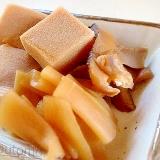 高野豆腐と干瓢と干し椎茸の甘煮