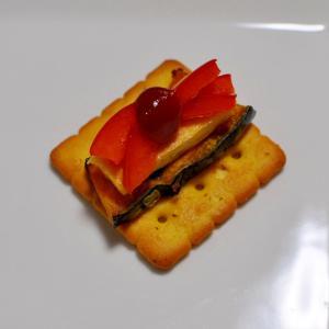 かぼちゃ&卵焼き&パプリカdeクラッカー