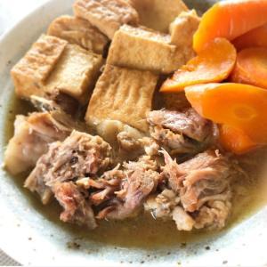 ブロック肉もホロホロに!厚揚げと豚肉の煮物