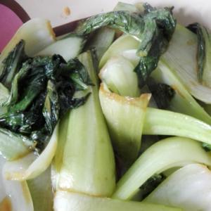 チンゲン菜のガーリックオイスター炒め