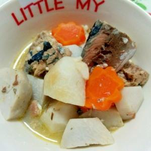 サバ缶で簡単調理!里芋の味噌煮