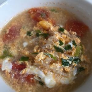 サンラータン風トマトスープ