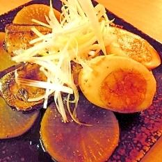 秋刀魚と大根の照り焼き風☆煮玉子添え