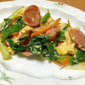 お弁当に☆野菜とウインナーのたまごとじ