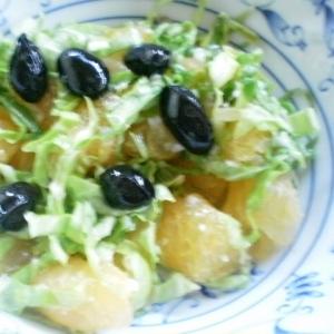甘夏とキャベツ黒豆サラダ