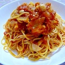 ブナピーがおいしい★トマトパスタ