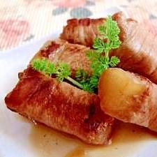 大根の豚巻き煮