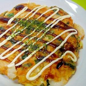 キムチ餅チーズのお好み焼き