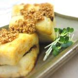 さんま山椒煮の豆腐サンド