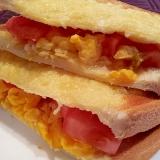 ♪トマト&卵&チーズのホットサンド♪