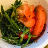 トマトとシーアスパラガスのバルサミコ酢