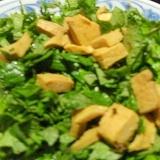 高野豆腐とキャベツのサラダ