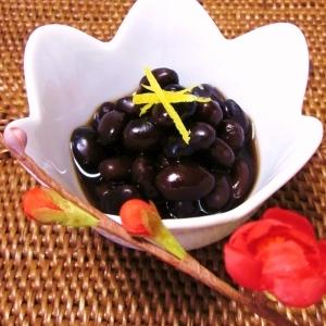 ふっくら!! 黒豆の柚子風味♪