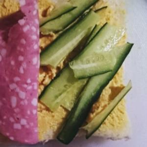 濃厚卵野菜サンド
