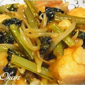 小松菜入り鶏チリ