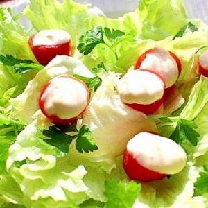 【ヘルシー 風邪予防】カップ入りソースのサラダ