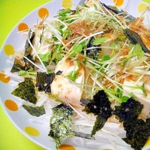 大根と豆腐海苔のゴマサラダ