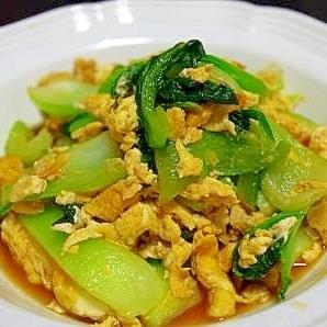 チンゲン菜と卵の炒め物